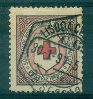 PORTUGAL  VIGNETTE CROIX ROUGE Ob LISBONNE 30.1.1897 Rare. - Variétés Et Curiosités