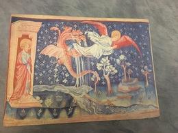 Plaque En Carton  Publicite  De Laboratoire Pharmacetique  30  X 22 Cm (le Dragon Poursuit La Femme ) - Placas De Cartón