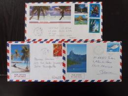 Polynésie Française, Lot De 3 Enveloppes - Collections, Lots & Séries