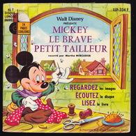 LIVRE DISQUE - 45T - Vinyle - Mickey - 334 - Enfants