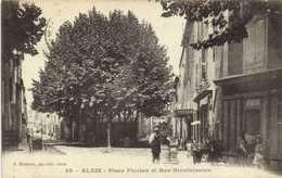 ALAIS  Place Florian Et Rue Bienfaisance  Commerces   RV Beau Cachet  Hopital Complementaire N°21 Alais - Alès