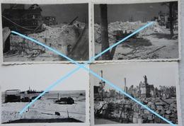 Photox4 DUNKERQUE 1940 Destructions Statue Jean Bart Torpilleur 2ème DCT JAGUAR épave Coulée Le 23 Mai Guerre - Guerre, Militaire
