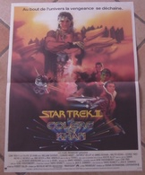AFFICHE CINEMA ORIGINALE FILM STAR TREK II La Colère De Khan SHATNER MEYER DOOHAN 1982 TBE DESSIN - Affiches & Posters