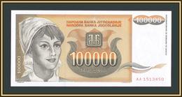 Yugoslavia 100000 Dinar 1993 P-118 (118a) UNC - Jugoslavia