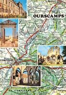 60 - Ourscamp - Carte Géographique - Multivues - Francia
