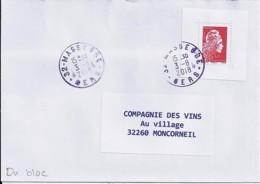 MARIANNE L'ENGAGEE N° 5253 Du BLOC 143 SUR LETTRE DU 3.8.18 - 2018-... Marianne L'Engagée