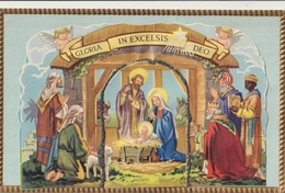 Crèche - Belle CPA En Relief - Jésus