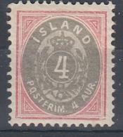 +Iceland 1900. AFA / MICHEL 20. MH(*) - Nuovi