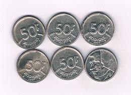 50 FRANCS  LOT  BELGIE /2822/ - 08. 50 Francs