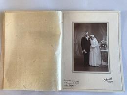PHOTO Mariage 1936 Studio E. PASCAL - LYON - Personnes Anonymes