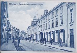 MENIN MENEN - Rue De Lille Et Couvent Français Edition Clou-Saillau - Menen