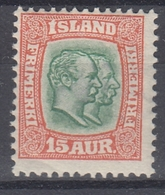 +M211. Iceland 1907. AFA / MICHEL 54. MH(*) - Nuovi