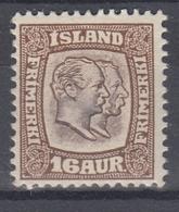 +M212. Iceland 1907. AFA / MICHEL 55. MH(*) - 1873-1918 Dépendance Danoise