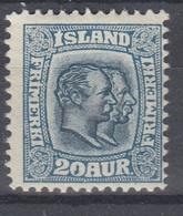 +M213. Iceland 1907. AFA / MICHEL 56. MH(*) - 1873-1918 Dépendance Danoise