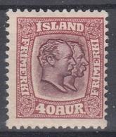 +M215. Iceland 1907. AFA / MICHEL 58. MH(*) - Nuovi