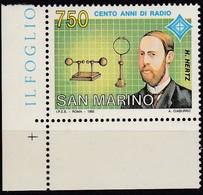 San Marino, 1992, 1495, MNH **, 100 Jahre Radio - Saint-Marin