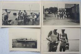 Photox8 ARCACHON Cap Ferret 1947 Ostréiculture Huîtres Costume Parqueuse Oyster Farming - Lieux
