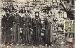1906- C P A -250- Tonkin - Cao Bang-femmes De Trung-Khan-Phu  Oblit. Cad Octog. Maritime LIGNE N /PAQ FR N°7 - Brieven En Documenten