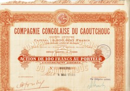 CONGO-CAOUTCHOUC. CIE CONGOLAISE DU ...  PARIS - Acciones & Títulos