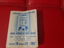 """FRANCE - CARNET DE 10 TIMBRES """"QUINZAINE DE L'ÉCOLE PUBLIQUE"""" 1959 (ILLUSTRATEUR  H. MONIER) - Commemorative Labels"""