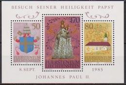 Lichtenstein 1985 MiNr.878 - 880 Block12 ** Postfr. Besuch Papst Johannes Paul II. ( 2726 ) Günstige Versandkosten - Nuevos