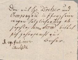 1702 Pforzheim Transportschein über Salzlieferung - [1] Prephilately