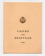 Menu Casino De Deauville Diner De Gala Congrès Du Syndicat Des Agents De Voyage Vendredi 22 Avril 1977 - Menus