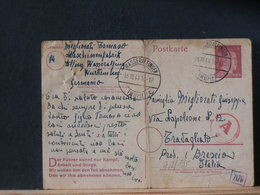 A12/135 CP  ALLEMAGNE  1944 POUR  ITALIE CENSURE  PLI - Entiers Postaux