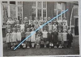 Photox3 CHAPELLE LEZ HERLAIMONT Photos De Classe Filles 1933-35 Enseignement Ecole School Hainaut - Lieux