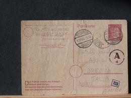 A12/136 CP  ALLEMAGNE  1944 POUR  ITALIE CENSURE  PLI - Entiers Postaux