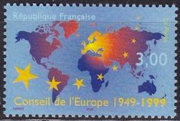 Frankreich, 1999, 3370, MNH **, 50 Jahre Europarat. - Unused Stamps