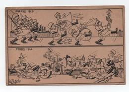 Carte Fantaisie - Militaire - Paris 1940-1944 - Signé JIPE - Série N°101. - Humoristiques
