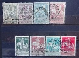 BELGIE  1910    Nr. 84 - 91    Gestempeld    CW 35,00 - 1910-1911 Caritas