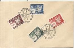 GEBURTSTAG DES FUHRER .4 TIMBRES SUR LETTRE - 1939-44: II Guerra Mondiale