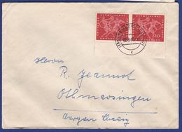 Brief Mehrfachfrankatur MiNr. 334 / Bogenrand (br9784) - [7] Federal Republic