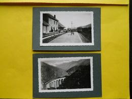 Photo Gare De Montlouis ,Cerdagne,,collée Sur Carton Format Cpa - Trains