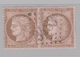GC 3483 St Alvère ( Dep 23 ) S / N° 58 Paire - Marcophilie (Timbres Détachés)