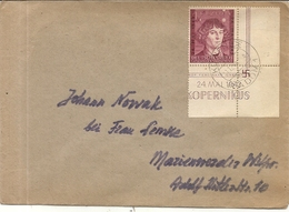 LETTRE VOYAGEE DE RADOM.TIMBRE COIN DE FEUILLE . SUPERBE - 1939-44: World War Two