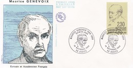 FRANCE 1990 FDC MAURICE GENEVOIX YT 2671 - FDC