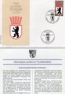 750 Jahre Berlin 1987 DDR 2817 FDC 5€ Auf Spezial-Brief Stadtwappen SST 1080 Berliner Bär Waps Cover Of GDR Germany - Cartas