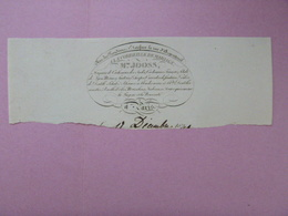 En-tête De Facture - A LA CORBEILLE DE MARIAGE - Mme JOOSS - Cachemires, Schals, Mérinos, Dentelles... - 1800 – 1899