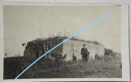 Photo GERMAN BUNKER Belgian Coast 1914-18 WW1 Belgium Oorlog Fortification Casemate - Oorlog, Militair