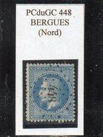 Nord - N° 29B (variété Rare 4B3 Retouche Légende Sup) Obl PCduGC 448 Bergues - 1863-1870 Napoléon III Lauré