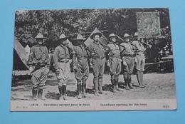 CANADIENS Partant Pour Le Front CANADIANS - GUERRE 1914 ( 21me Serie - ELD ) Anno 1915 ( Voir / See Photo ) ! - Guerre 1914-18