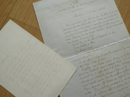 Alexandre TEULET (1807-1866) Archiviste Paléographe Historien [ Eginhard ]. 2 X AUTOGRAPHE - Autographs
