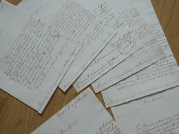 1831. NANTES & CHATEAUBRIANT & Environs (Juigné, Saint Colomban ...) Délations ANTI ROYAUTE Gendarmerie - Autographs