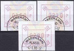 ALAND 1993 Mi-Nr. ATM 5 Automatenmarken O Used - Aus Abo - Aland