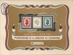 1ER ANNIVERSAIRE DE LA LIBERATION . 1945 - Cartoline Commemorative