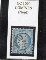 Nord - N° 60C Obl GC 1090 Comines - 1871-1875 Cérès