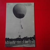 CAMP DE CHALONS LES AEROSTIERS EN CAMPAGNE ASCENSION CAPTIVE - Camp De Châlons - Mourmelon